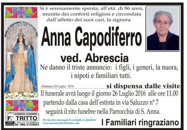 ANNA CAPODIFERRO