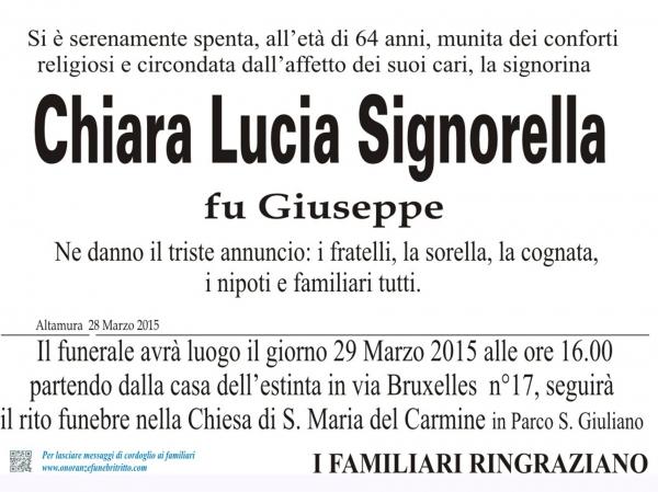 CHIARA LUCIA SIGNORELLA