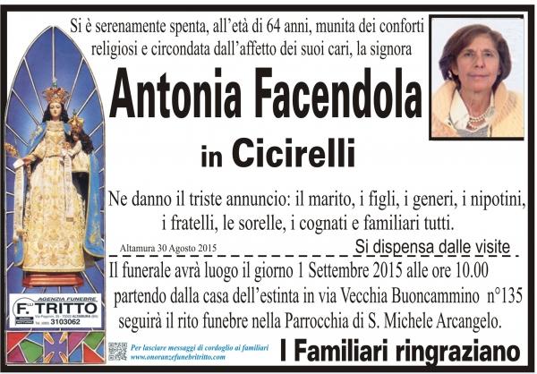 ANTONIA FACENDOLA