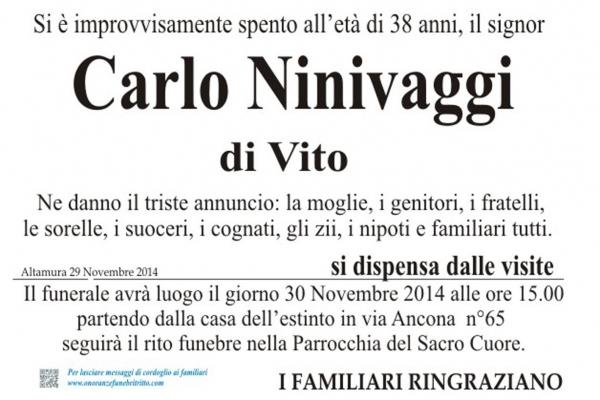CARLO NINIVAGGI