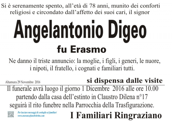 ANGELANTONIO DIGEO