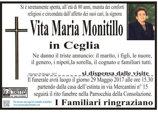 VITA MARIA MONITILLO
