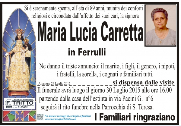 MARIA LUCIA CARRETTA