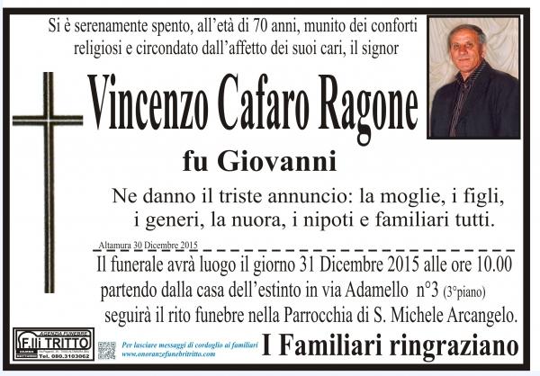 VINCENZO CAFARO RAGONE