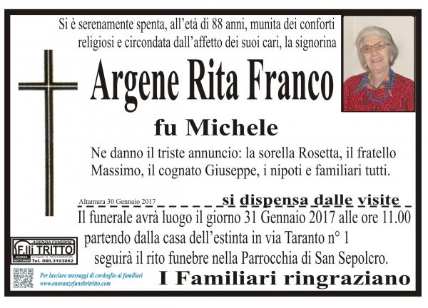 ARGENE RITA FRANCO