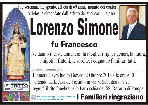 LORENZO SIMONE