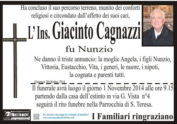 GIACINTO CAGNAZZI