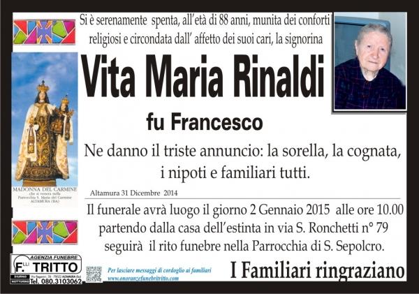 VITA MARIA RINALDI
