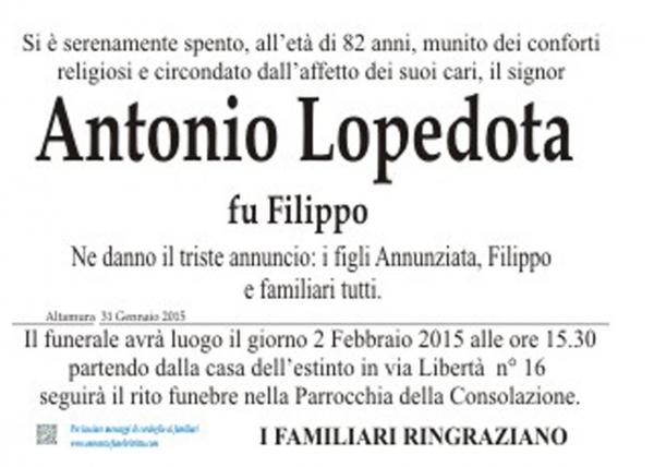 ANTONIO LOPEDOTA
