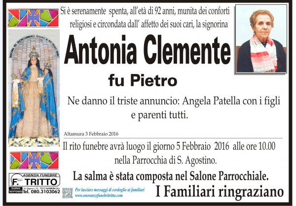 ANTONIA CLEMENTE