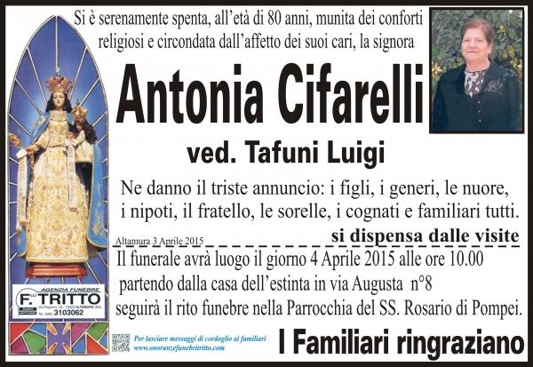 ANTONIA CIFARELLI