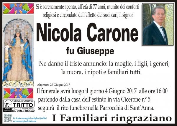 NICOLA CARONE