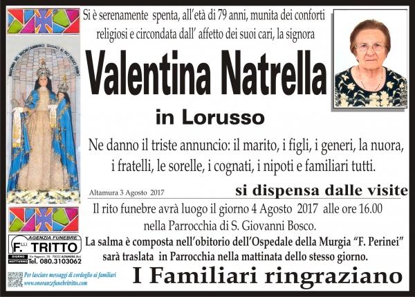 VALENTINA NATRELLA
