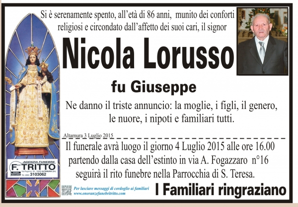 NICOLA LORUSSO