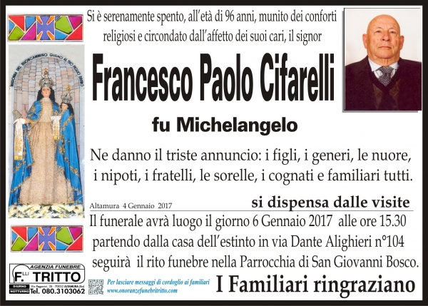 FRANCESCO PAOLO CIFARELLI
