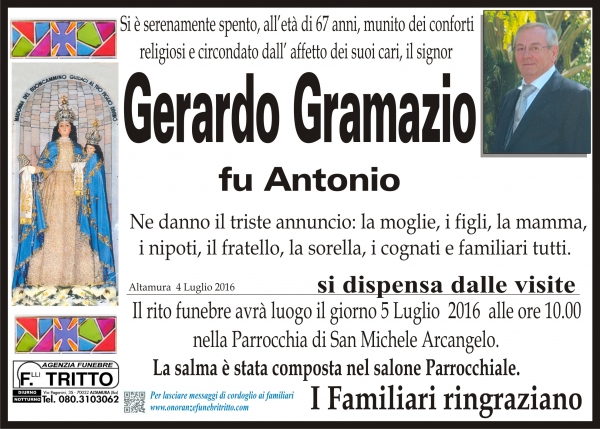 GERARDO GRAMAZIO