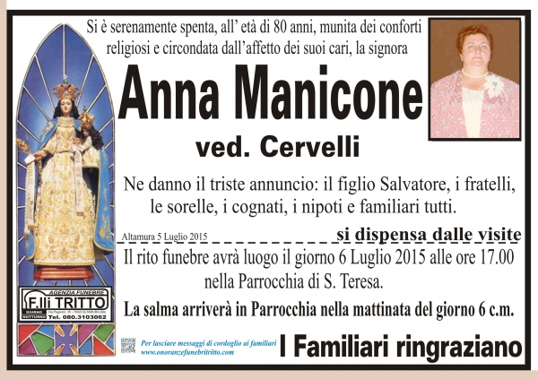 ANNA MANICONE