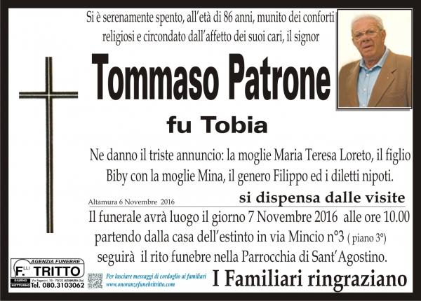 TOMMASO PATRONE