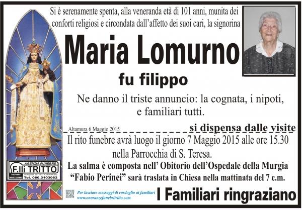 MARIA LOMURNO