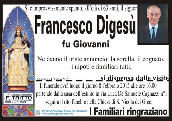 FRANCESCO DIGESù