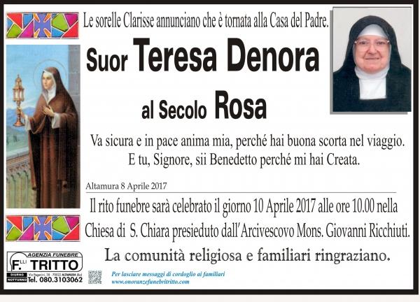 Rosa Denora Suor Teresa