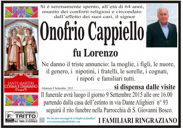 ONOFRIO CAPPIELLO