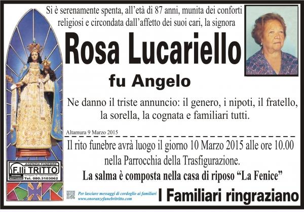 ROSA LUCARIELLO
